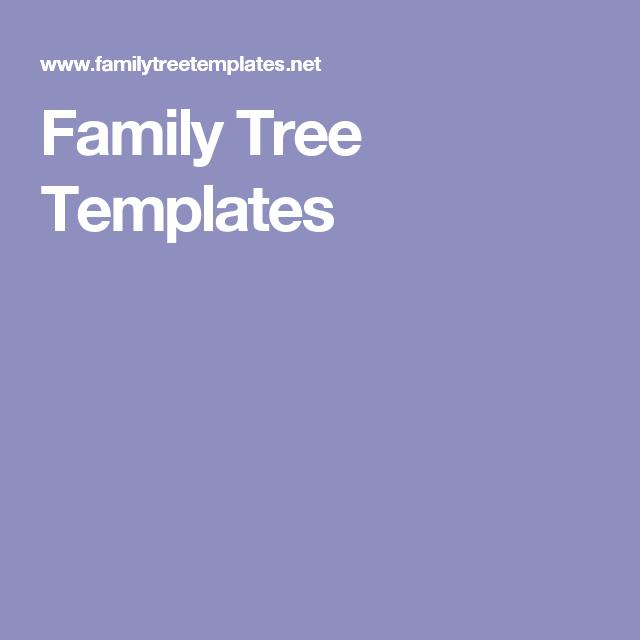 family tree templates genealogy pinterest genealogy family