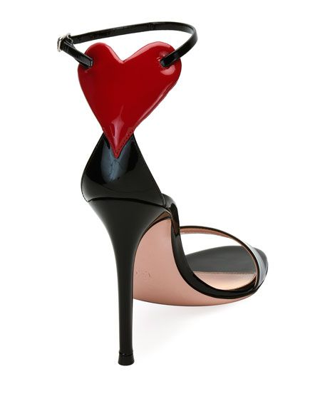 d0436d5b05b8 Love Heart Patent 105mm Sandal
