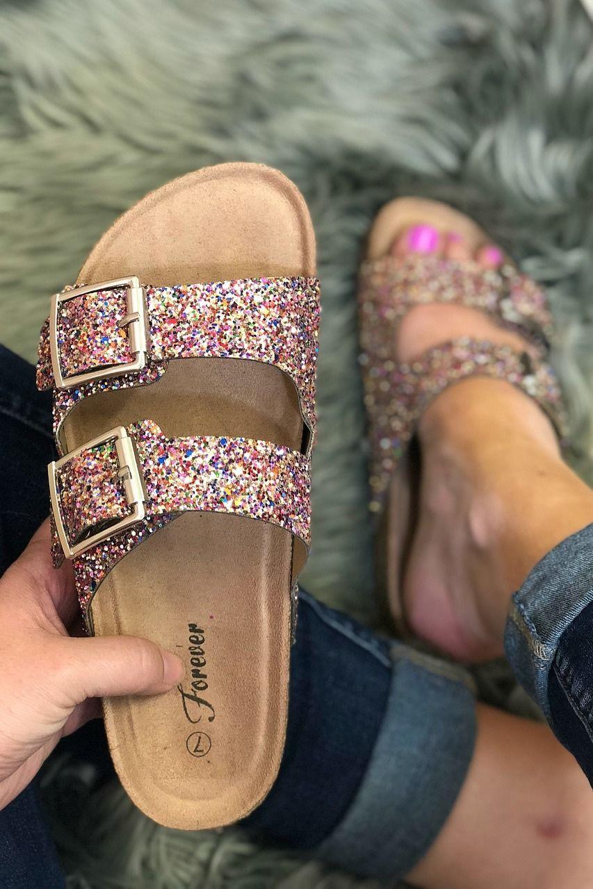9a9eb2ecc38 Sparkle and Shine Birks Shoes  Unicorn Shoes Like Birkenstocks