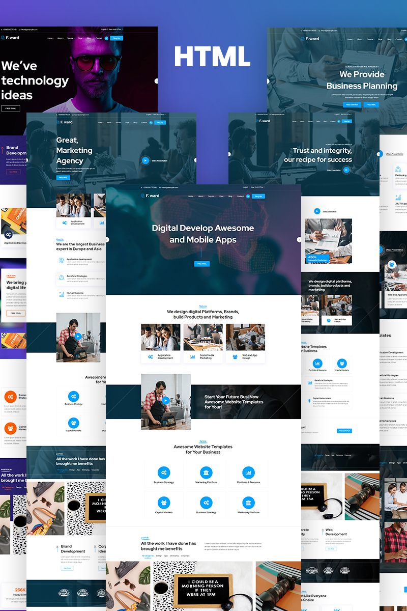 Fward Html5 Business Website Template 97016 Ad Business Website Template Fward Business Website Templates Website Template Business Website