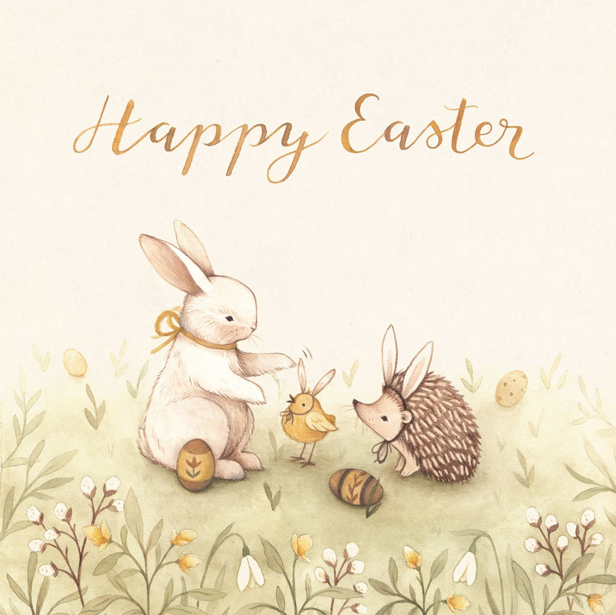 We All Are Bunnies Illustrated Easter Greeting Card Nina Stajner