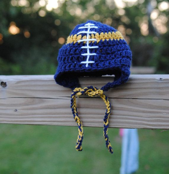 Football Hat Notre Dame Fighting Irish Baby boy girl by Kimberose ... a979741a631a