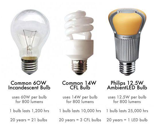 Compact Fluorescent Light Bulbs Vs Incandescent Light ...