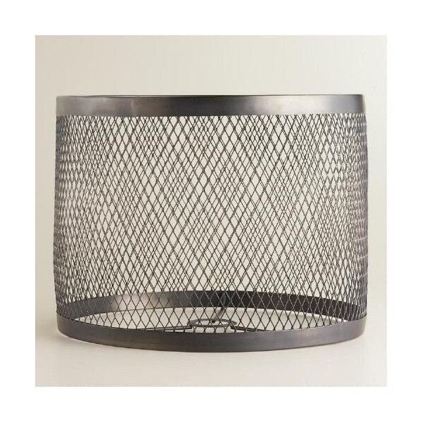 World Market Lamp Shades Cost Plus World Market Riveted Table Lamp Shade $40 ❤ Liked On
