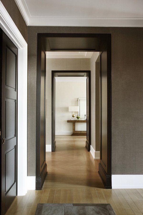 Handsome wall space Pinterest Cols, Couloir et Boiseries
