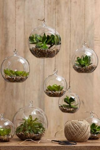 Hanging Terrariums Create Mini Garden Worlds Filled With Your Favourite Small Plants In Hanging Glass Interior Decor Luxury Style Ideas Home Decor