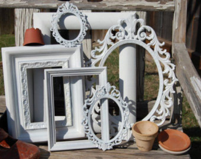 Set Of 6 Picture Frames / Shabby Chic Frames / Frame Collage ...
