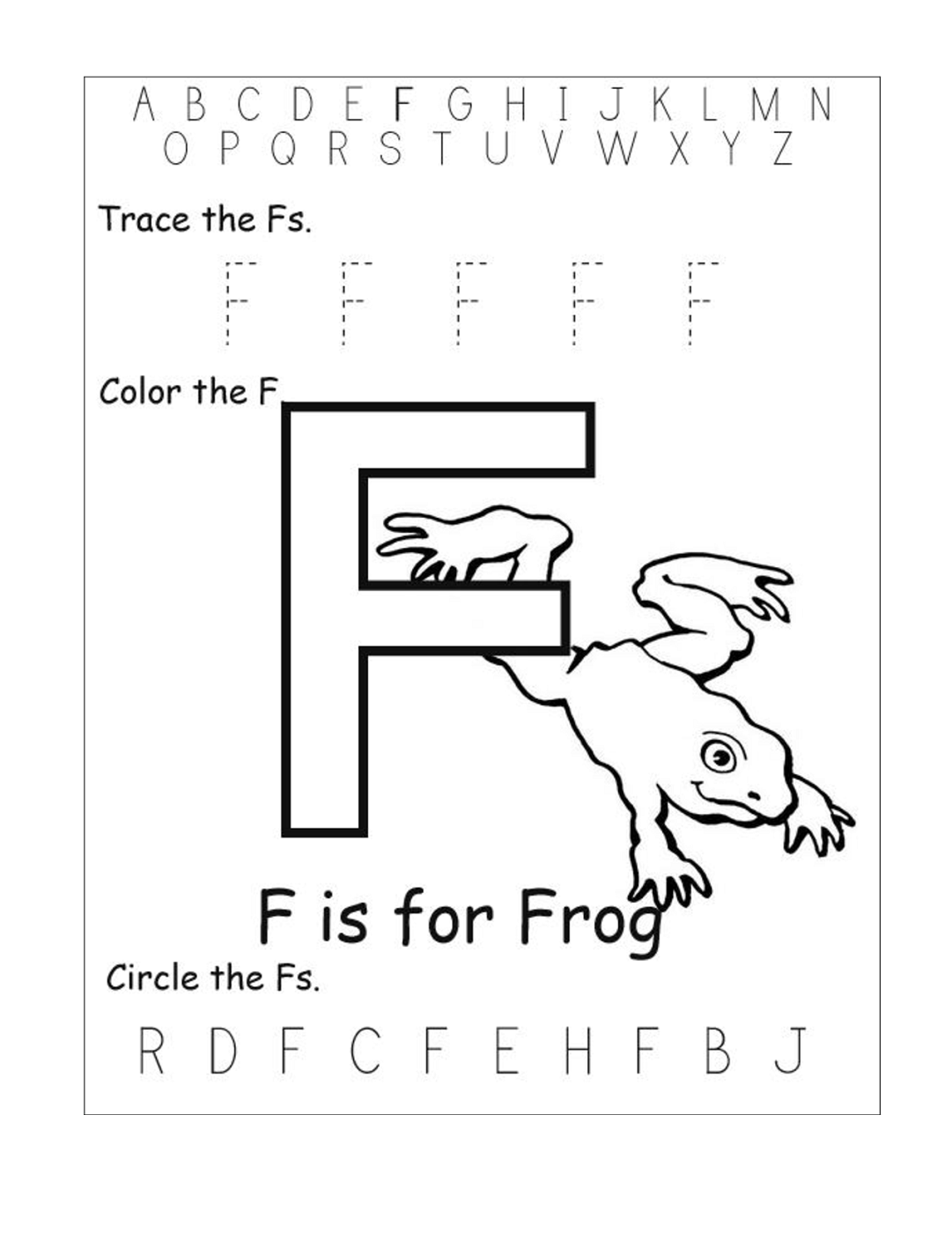 Letter F Worksheets For Preschool Worksheets For All