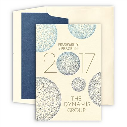 spheres of influence new year card from checkerboard business greetings customize yours with paper passionista