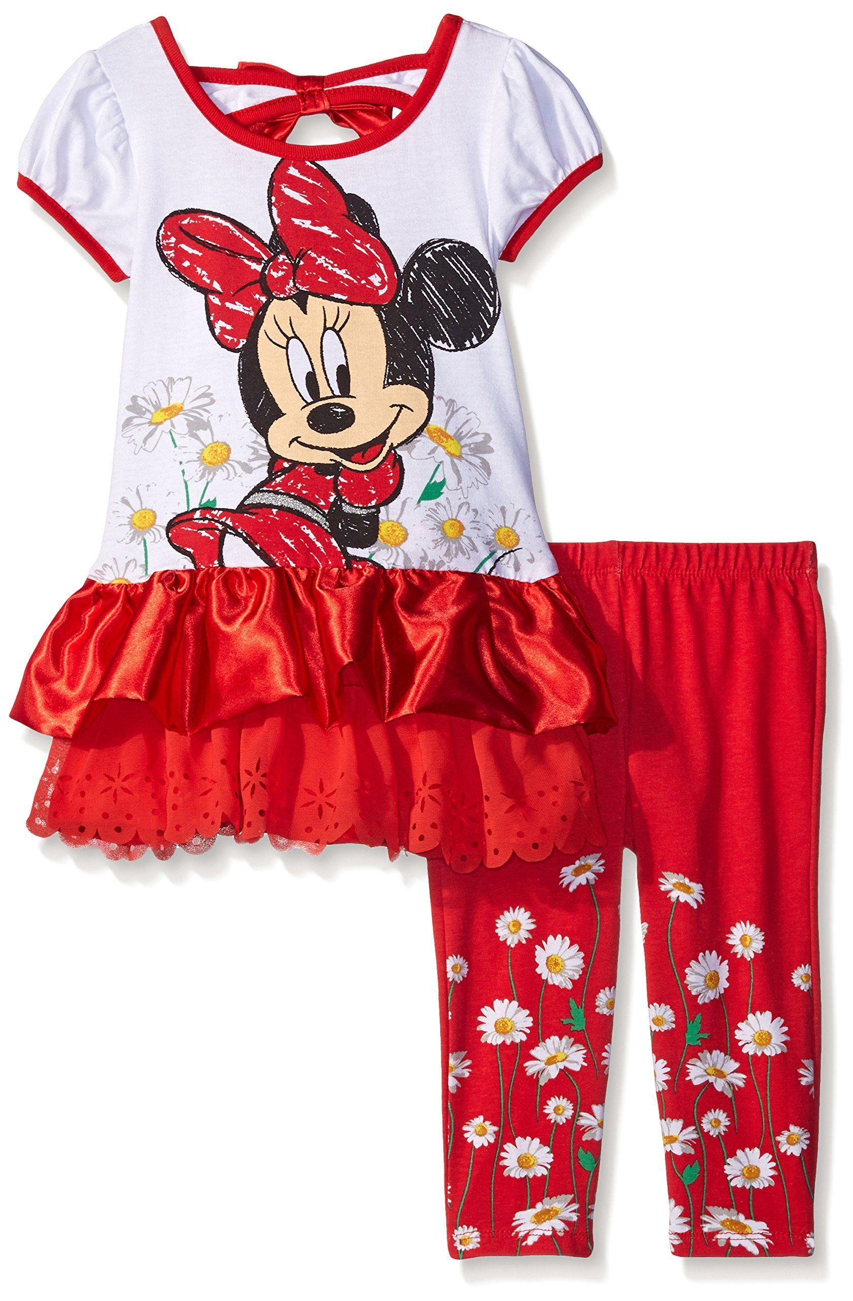 da887548849 Disney Girls  Minnie Mouse 2-Piece Legging Set