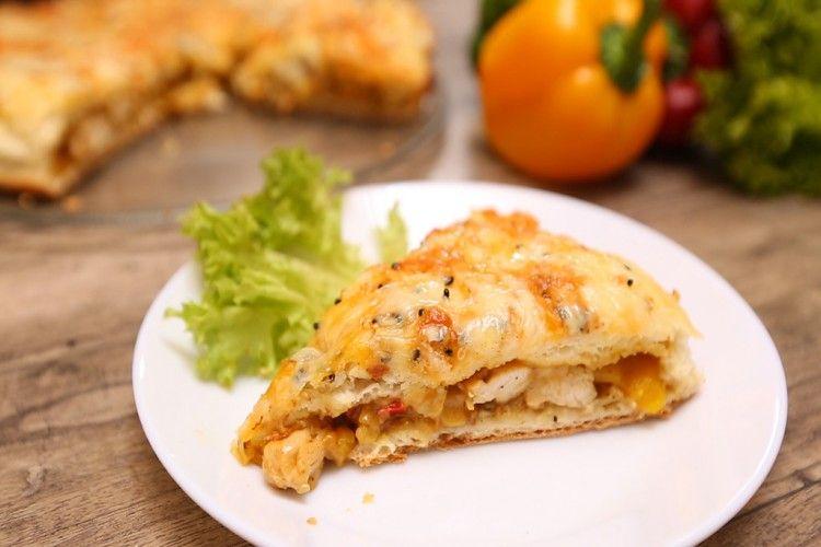 الفطيرة التركية بالدجاج بالفيديو مطبخ سيدتي Recipe Savory Appetizer Food Finger Foods
