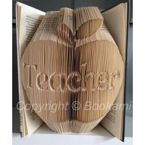 Apple For The Teacher - Book Folding Pattern Book Folding Patterns ...