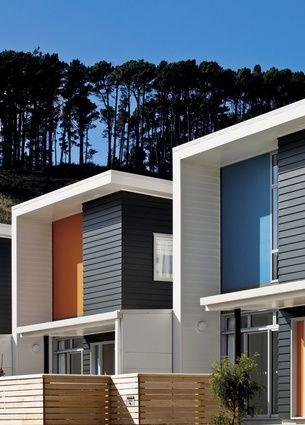 Regent park apartments complex wellington new zealand by designgroup stapleton elliot dgse townhouses street house