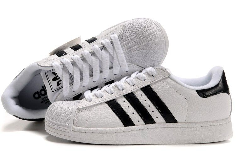 womens adidas superstar 2 white and black