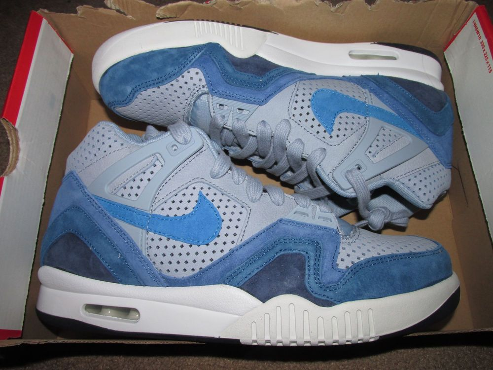 9aa20dfc887 Nike Air Tech Challenge II QS 2 Agassi Tennis Shoes Mens 10 Blue Grey  667444 404…