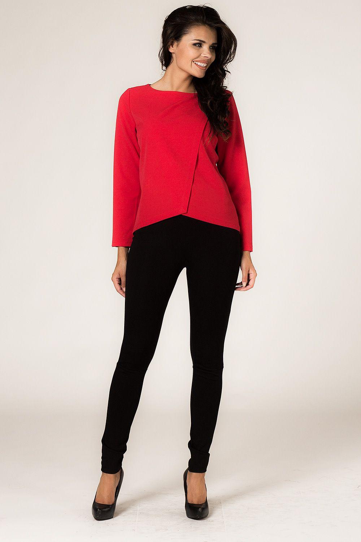56362157d5 Elegancka czerwona bluzka damska