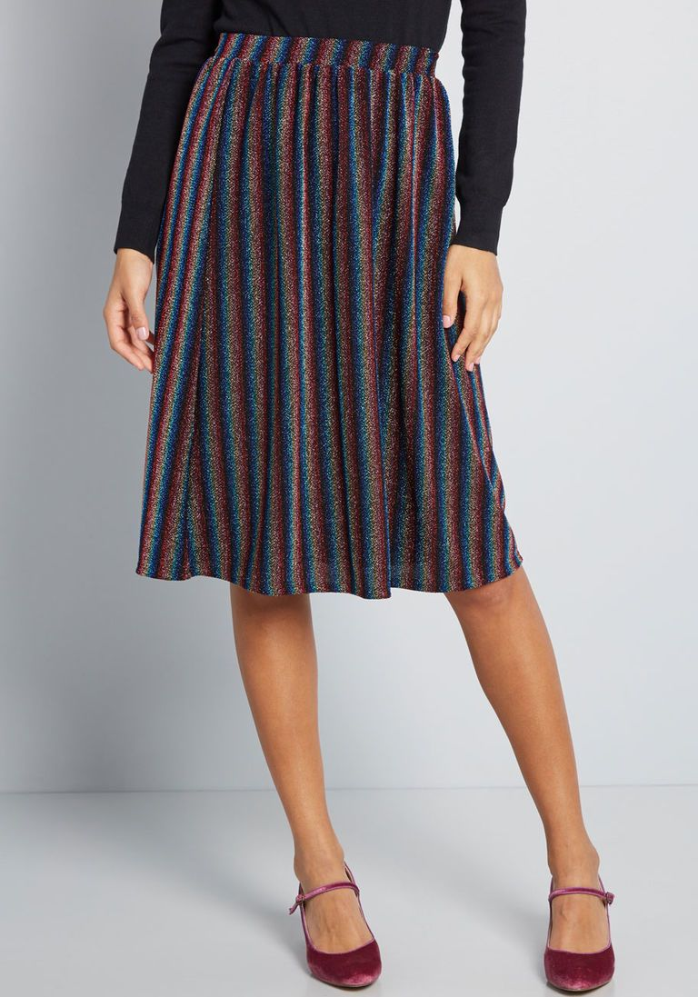 9737077478 Pleasant Emphasis Striped Skirt | Products | Stripe skirt, A line ...