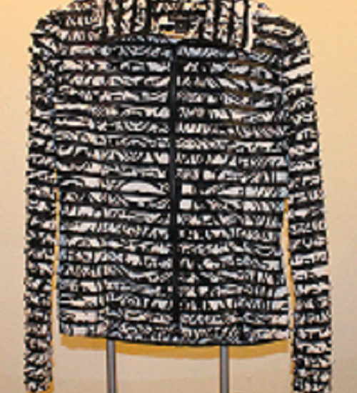 multi layer jacket with black zipper