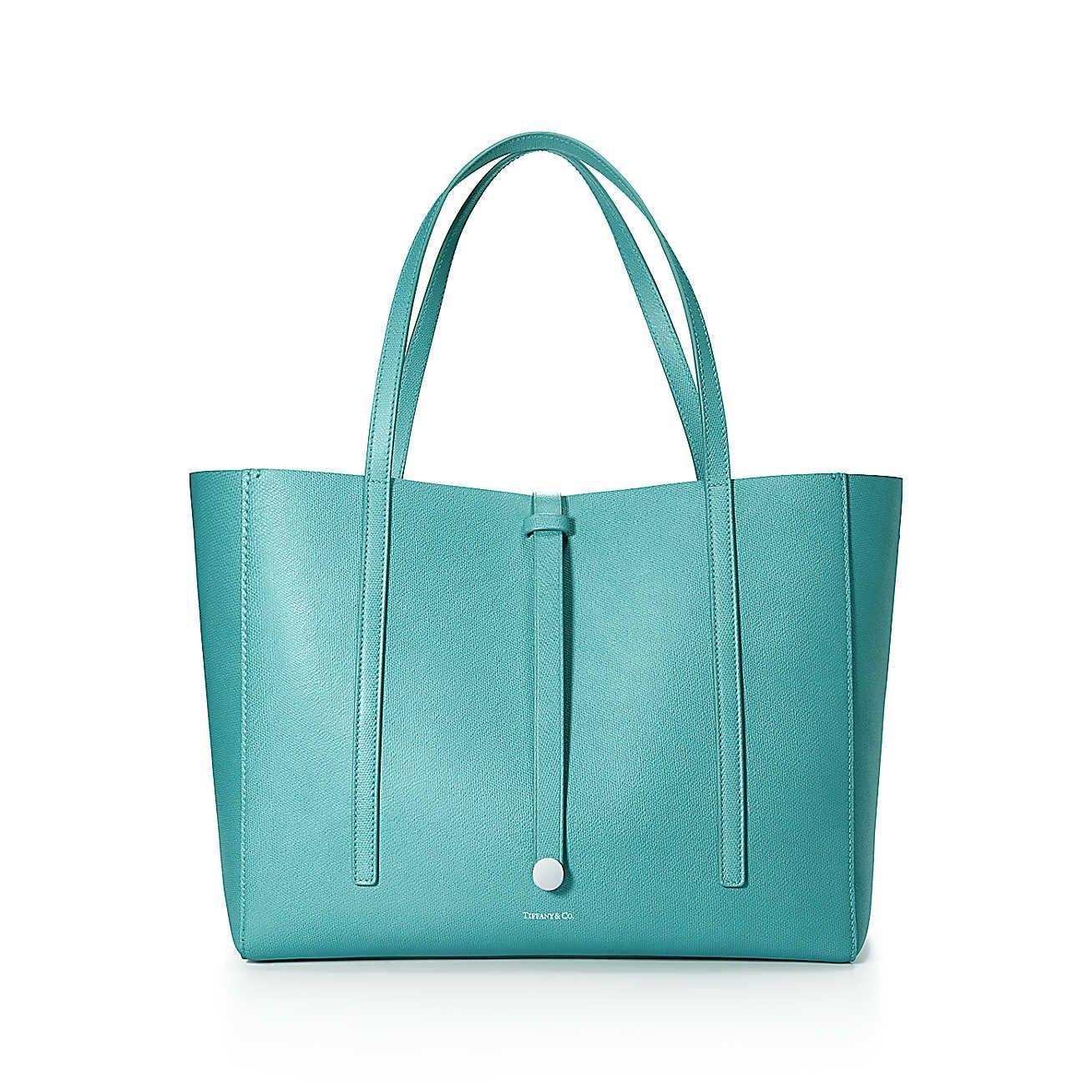 b2fd0b0eca1 Reader tote in Tiffany Blue® grain leather. More colors available ...