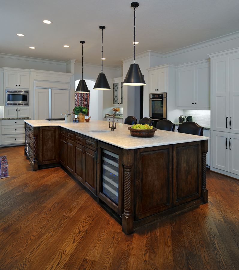 awesome shaped kitchen island | An oddly-shaped kitchen island | Eclectic kitchen ...
