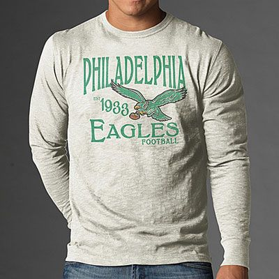 87b65058 Sport the retro look! #Eagles Long Sleeve Scrum Retro T-Shirt ...