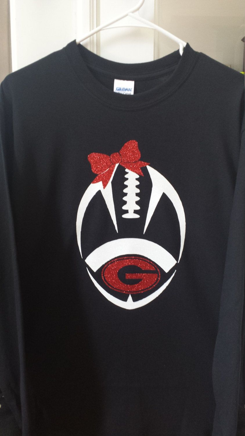 the latest 38fa9 2d534 Girls Georgia Bulldog football shirt, Georgia football shirt ...
