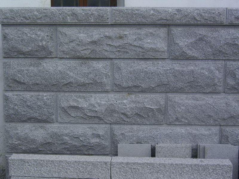 China G654 Granite Mushroom Stone Exterior Wall Cladding Photos
