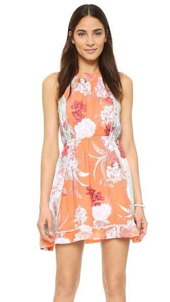 MINKPINK Backyard Bliss Halter Dress