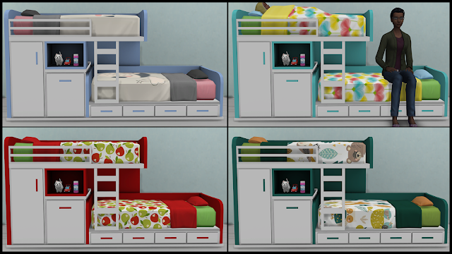 Etagenbett Sims 4 : Download sims 4 pose: toddler twin bunk beds {kids furniture