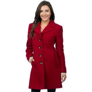 Jones New York Women's Wool/ Angora Coat - 13871037 - Overstock ...