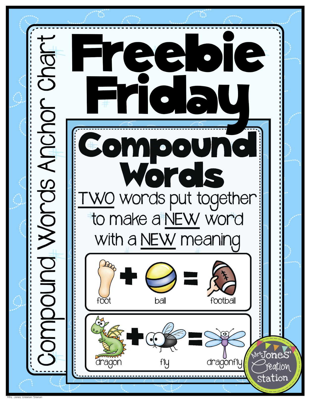 Freebie Friday Compound Words Anchor Chart Compound Words Anchor Chart Compound Words Compound Words Activities [ 1600 x 1236 Pixel ]