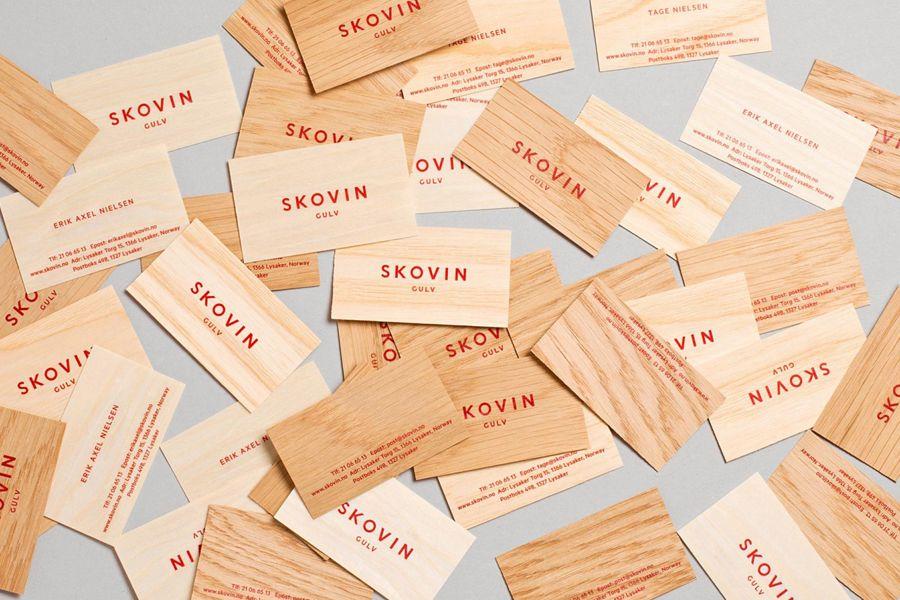New Brand Identity Skovin by Heydays - BP&O | Wood veneer, Business ...
