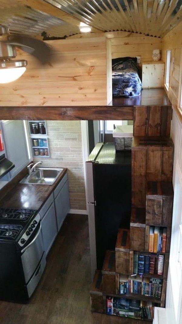 Couple S 25k Tiny Home On Wheels Tiny House Loft Tiny House Stairs Tiny House Plans