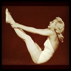 Marilyn Monroe doing Pilates! from a photoshoot in 1948 for LIFE magazine