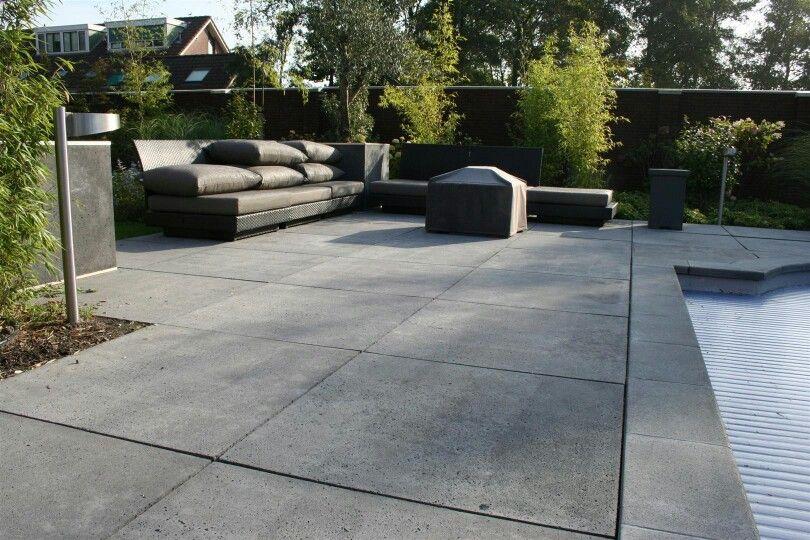 Tuintegels betontegels mooi zo groot! Tuin Pinterest Roche - Pave Pour Terrasse Exterieur