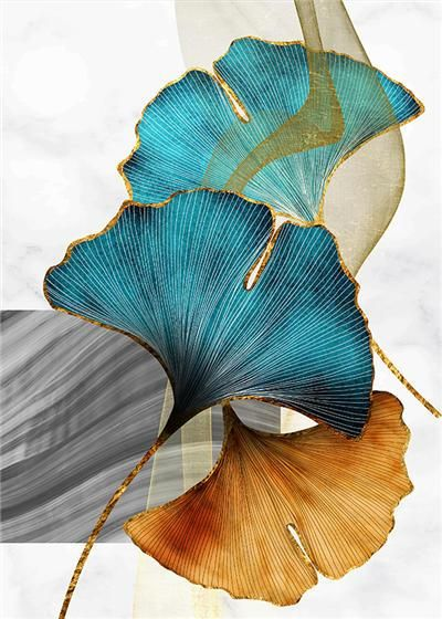 Photo of Green Golden Leaves Poster Modern Luxury Decor Canvas Painting Nordic Home Decor Wall Art Poster and Print Minimalist Art – 21x30cm no frame / B