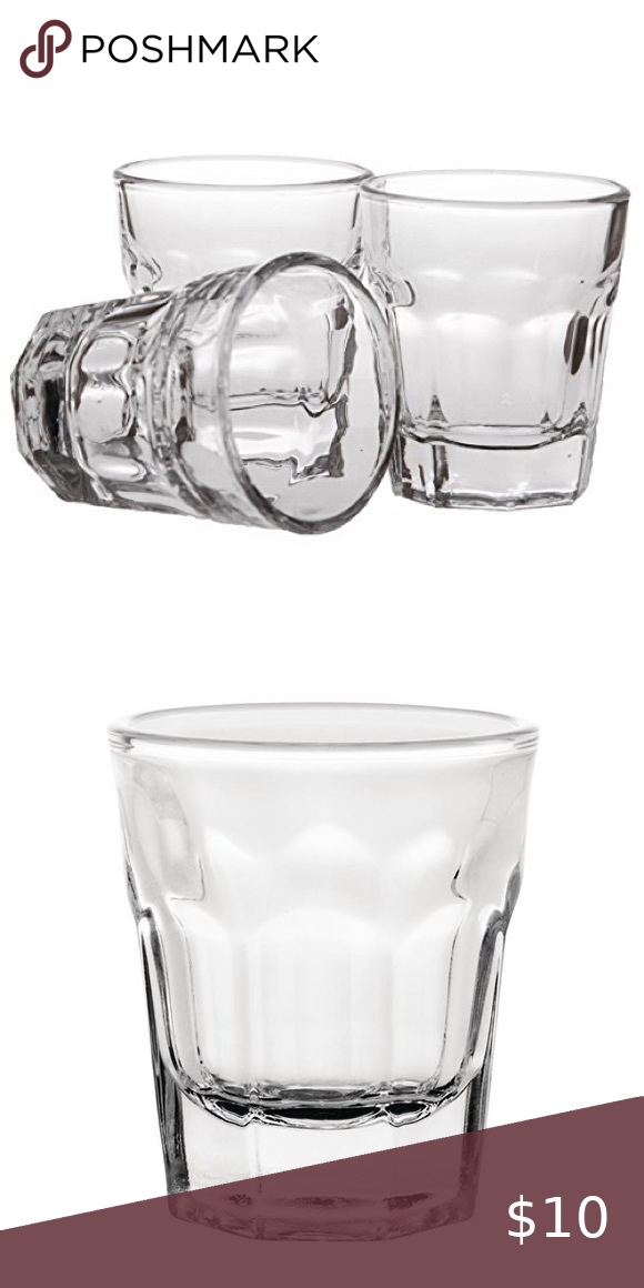 New Set Of 6 Glass Shot Glasses With Tag On Set Shot Glasses Shot Glass Size Bar Accessories