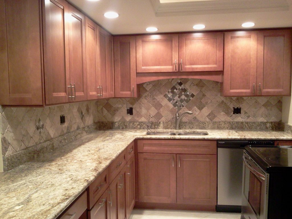 Custom kitchen backsplash, countertop and flooring tile installation ...