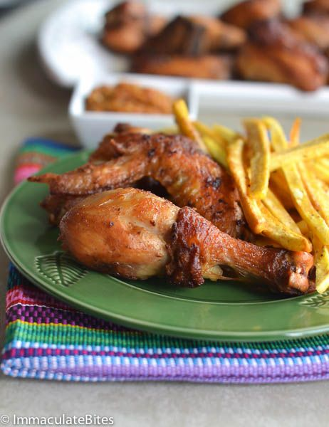 african fried chicken plantain fries immaculate bites fried chicken chicken pork recipe african cooking african fried chicken plantain fries