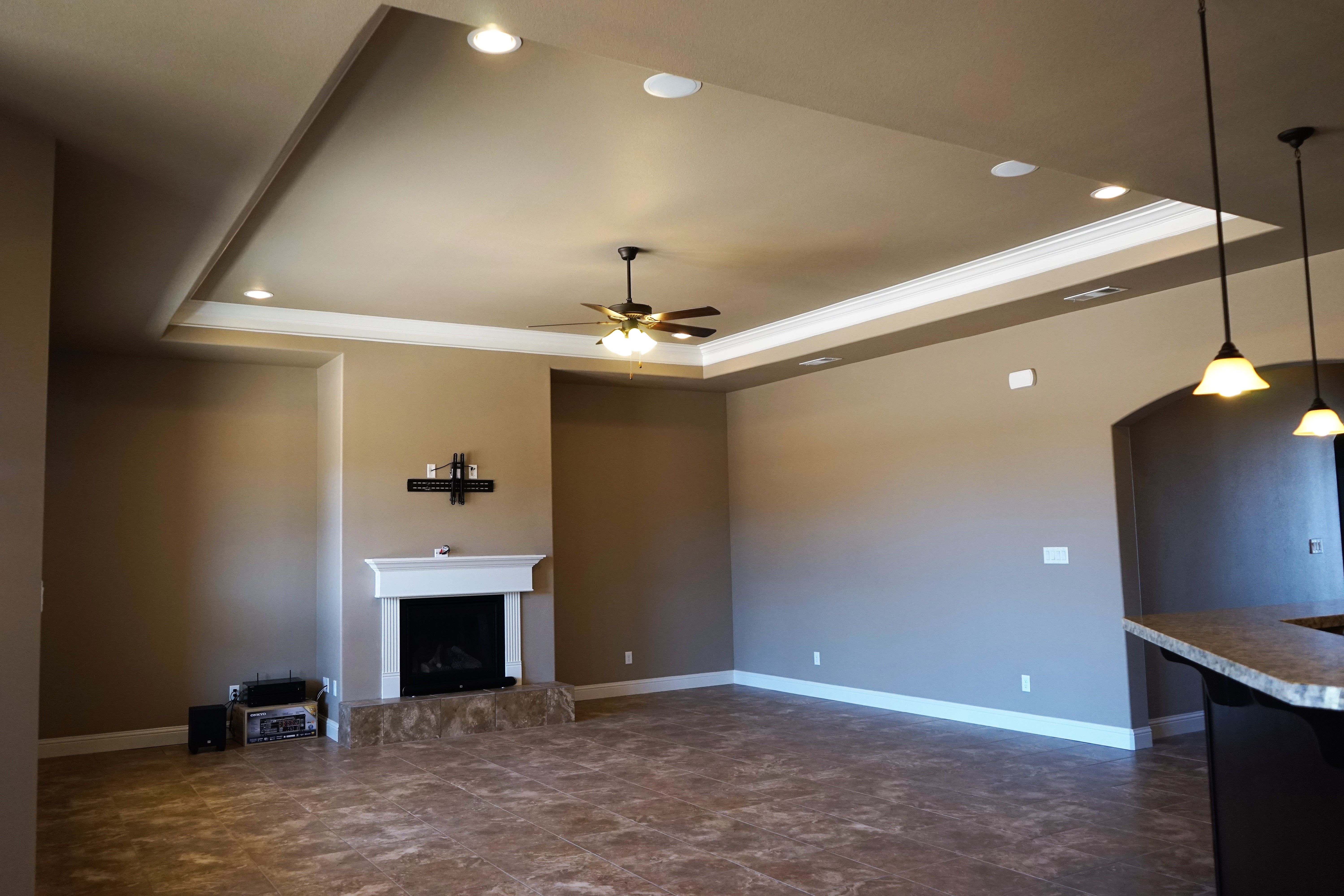 enclosed gas fireplace with raised tile hearth classic Hide Wires for TV above Fireplace