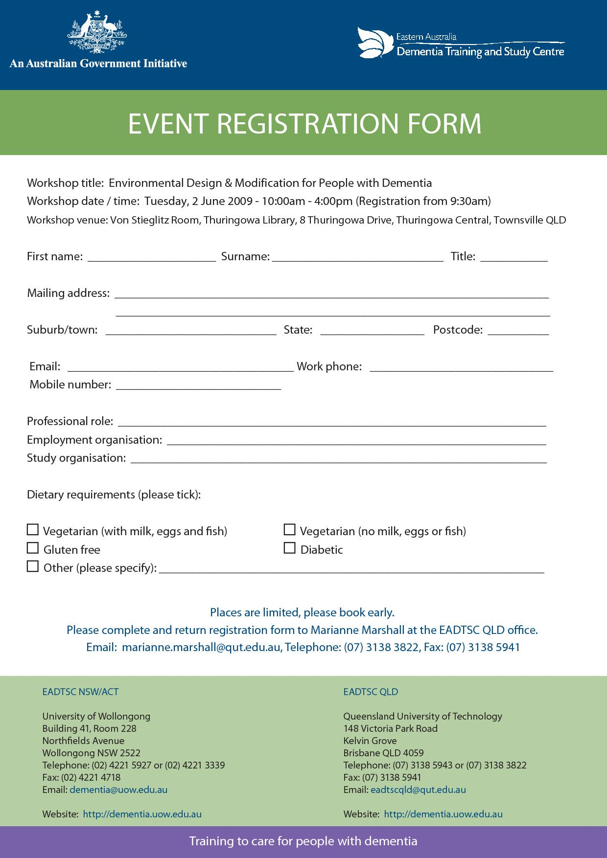 Conference Registration form Template Word Awesome