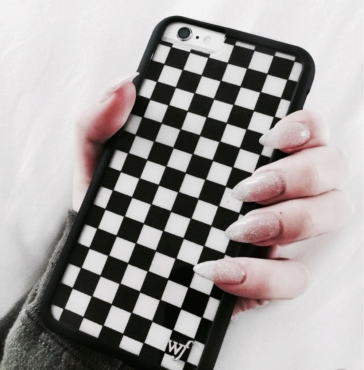 sports shoes 6adc1 ee7dd Black and white,checkered, wildflower phone case ...