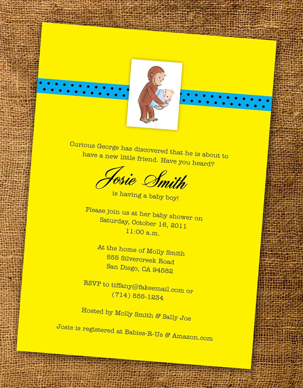 Piy print it yourself curious george baby showerparty piy print it yourself curious george baby showerparty invitation party circles and thank you cards 2000 via etsy pinterest curious george filmwisefo