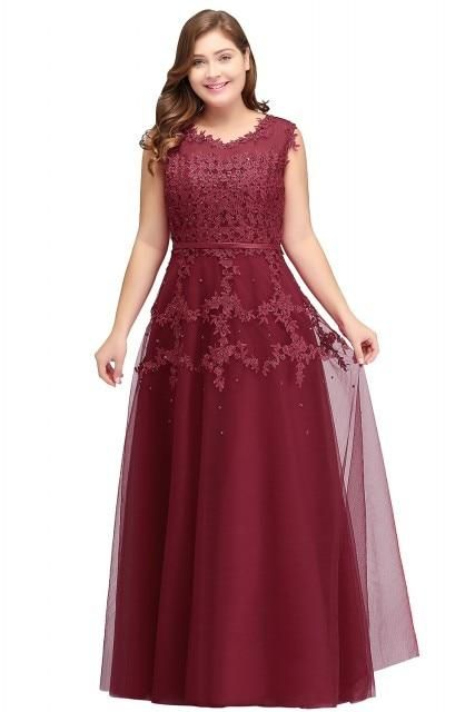 1ac11858402 Lace Appliques Evening Dress – Curvy Fashion Queen
