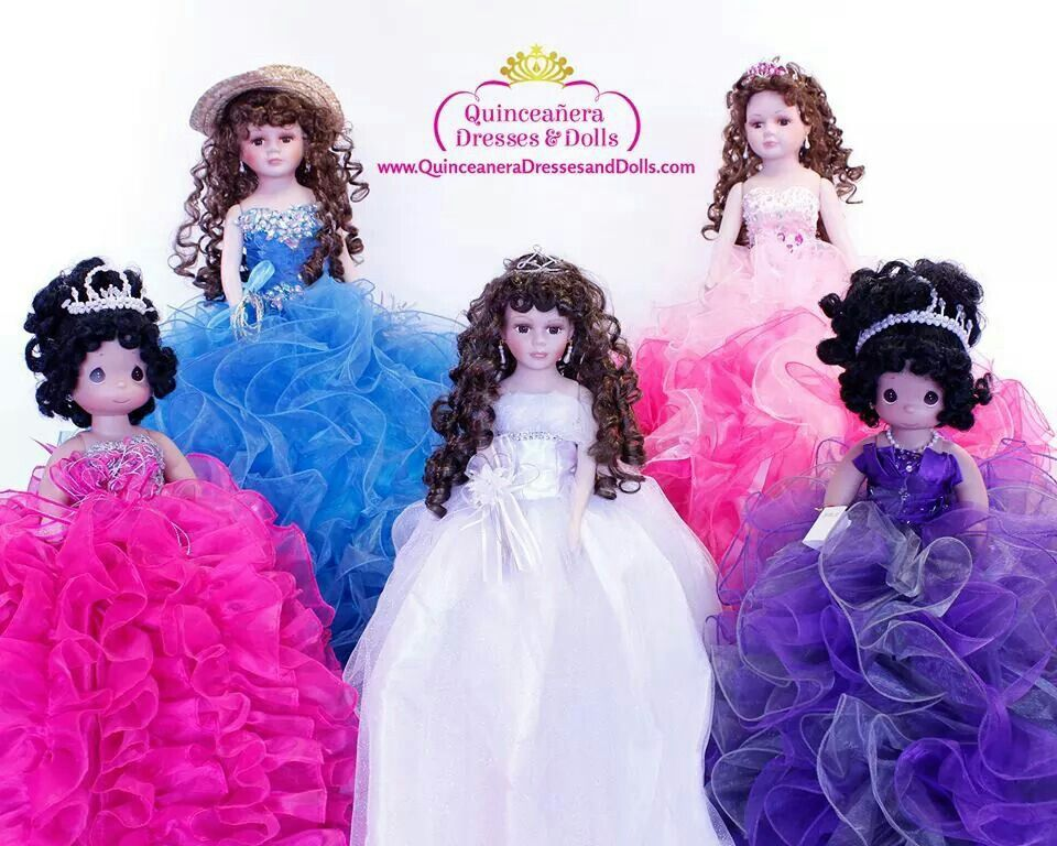 f97eef55023 Custom Quinceanera dolls with dresses to match your dress! Only at Quinceanera  Dresses and Dolls!  quinceanera
