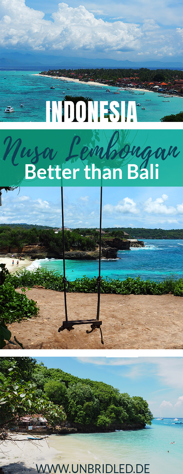 Sick of the crowded dirty beaches in Bali? Nusa Lembongan has fewer people, better beaches, greater snorkeling sites, and it is right next to Bali, Indonesia. #indonesia #bali #nusaisland #nusalembongan #island