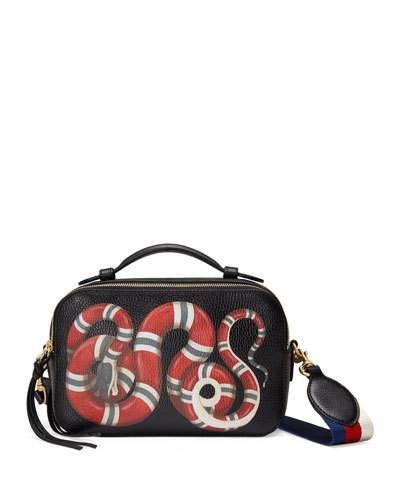 e9e17e76f8e GUCCI Snake-Print Leather Shoulder Bag, Black Pattern. #gucci #bags  #shoulder bags #hand bags #leather #