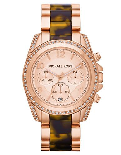 c16e7e614b614 MICHAEL KORS BLAIR Two-Tone Watch in Rose Gold + Tortoise - 25% off {take 25%  off on almost everything + 10% off on cosmetics & fragrance at Lord and  Taylor ...