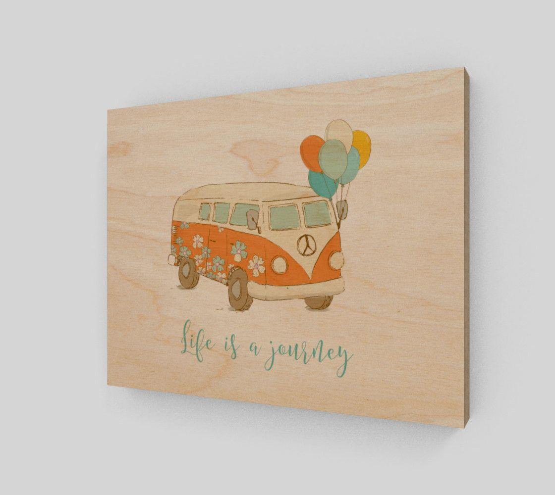 Life is a journey 8x10 wood print wood print framed art