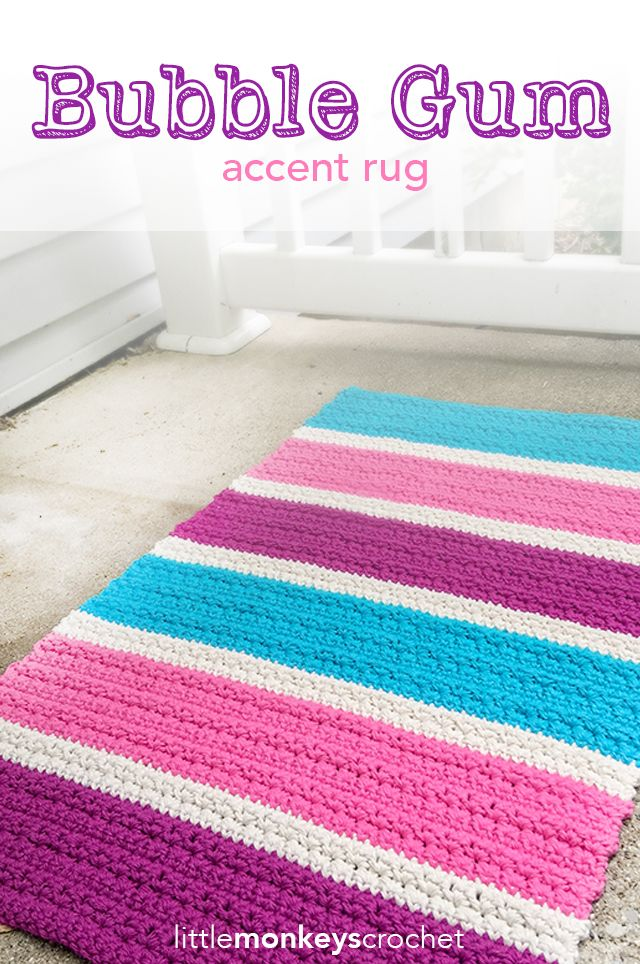 Bubble Gum Accent Rug Accent Rugs Bubble Gum And Free Crochet
